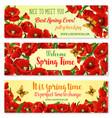 spring flower frame for springtime banner template vector image vector image