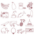 Sri-lanka country symbols outline icons set eps10 vector image vector image