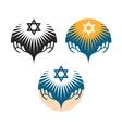 star david icons hanukkah symbol vector image
