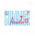summer paradise retro sign badge banner vector image vector image
