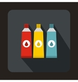Three tubes with colorful paint icon vector image vector image