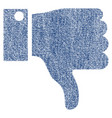 thumb down fabric textured icon vector image vector image
