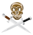 Two sword and skull vector image
