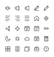 User Interface Colored Line Icons 8 vector image vector image