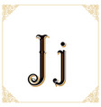 vintage font letter and monogram in the vector image vector image