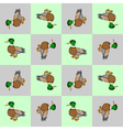 Design seamless colorful checked pattern with duck vector image