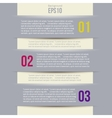 Modern Design style infographic template layout vector image