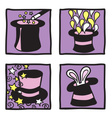 Magic hats collection vector image