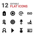 12 badge icons vector image vector image