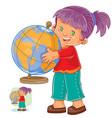 a little girl hugging vector image