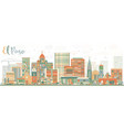 abstract el paso skyline with color buildings vector image vector image