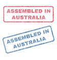 assembled in australia textile stamps vector image vector image