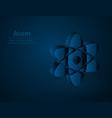 atom symbol low poly molecule polygonal vector image