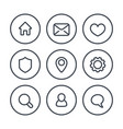 basic web icons on white linear style vector image vector image