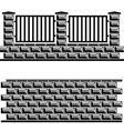 black decorative brick wall vector image vector image
