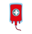blood bag donate icon vector image vector image