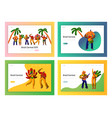 brazil carnival party dancer landing page set vector image vector image