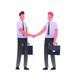 business meeting successful deal or contract vector image vector image