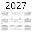 calendar 2027 sunday vector image vector image