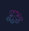carsharing service line style icon vector image