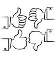 cartoon hand gesture vector image vector image
