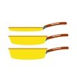 Cartoon pan cooking steel home kitchen equipment vector image vector image