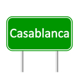Casablanca road sign vector image vector image