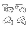 cctv line icon closed circuit television camera vector image vector image