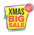 christmas big sale sticker spring bright vector image vector image