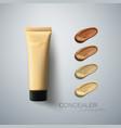 concealer cream package vector image vector image