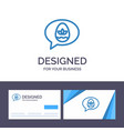 creative business card and logo template chat egg vector image