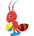 cute ant cartoon vector image vector image