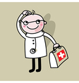 Doctor with suitcase in hands vector image vector image
