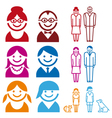 Family icon set vector