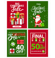 final sale and big discount promotion xmas vector image