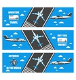flat banners airport vector image vector image