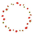 floral wreath with rose vector image