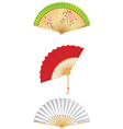 Folding Fan Set vector image vector image
