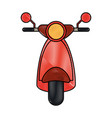front scooter red vespa vector image vector image