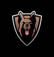german shepherd e sport logo icon vector image