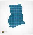 ghana map and flag icon vector image