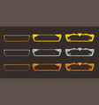 golden silver and bronze frames set vector image
