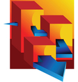 Graph and arrow vector image vector image