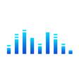 graphic amplitude or audio range effect chart vector image vector image