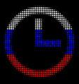 halftone russian clock icon vector image vector image
