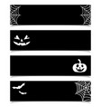halloween banners or headers set black background vector image