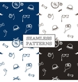 hand drawn hipster seamless patterns set vector image