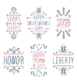Happy Independence day handlettering elements vector image vector image