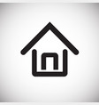 home house on white background vector image