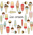 ice cream variations vector image vector image
